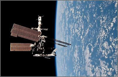 Poster Print: 1st Ever: Endeavour Docked At ISS View 4