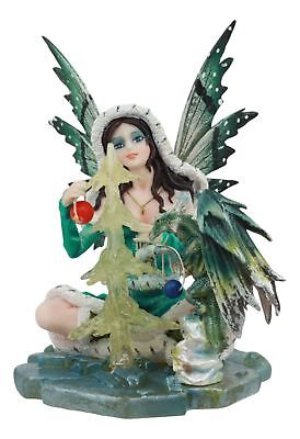 Meadow Legends Collection Fairy With Little Green Dragon Figurine Statue Decor