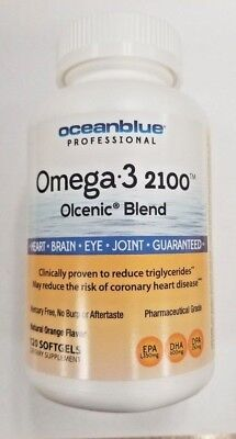 Ocean Blue Omega-3 Fish Oil 2100 120ct -Expiration Date of 01-2020