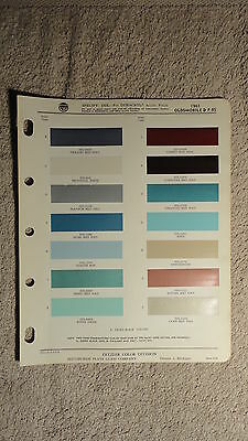 Ditzler Paint Chip Charts - 1961 Oldsmobile and F-85