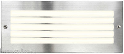 Stainless Steel Recessed Wall Light / Brick Light with Grille - CFL or LED