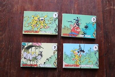 Rare Mini Movie MARSUPILAMI 4 vol. EO Taco Berlin 1988 / Flip Book