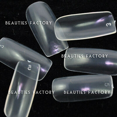 500 x Clear Color False FULL Nails Acrylic UV Gel Buy 1 Get 1 Free (#14x2)