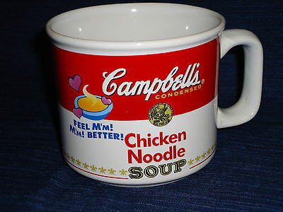 CAMPBELL'S CHICKEN NOODLE SOUP ceramic MUG 1997 by West Wood