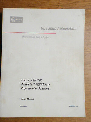 GE Fanuc Automation User's Manual Logicmaster 90 Series 90-30/20/Micro Software