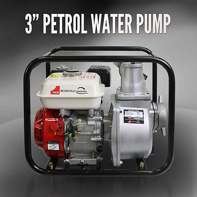 "3"" Water Transfer Pump 3 Inch 6.5 HP Petrol High Flow Irrigation Fire Fighting"
