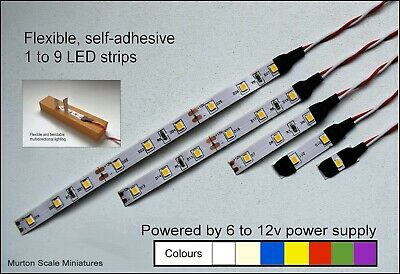 LED OO HO QUALITY 9v 12v DC 3528 LED SUPAFLEX LIGHTING STRIP MODEL RAILWAY GAUGE