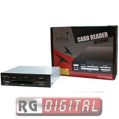 Lettore Card Reader Interno Vultech Cr-2591 3,5 Usb 2.0 In Micro Sd/mmc/smc