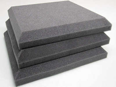 Flat Acoustic Foam Soundproofing Tiles, for room/studio/hall/club/cinema/music