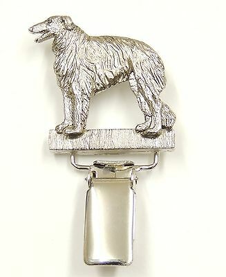 Borzoi/ Russian Wolfhound Show Ring Clip/Number Holder