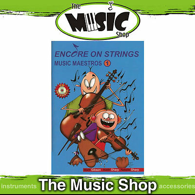 New Encore on Strings Music Maestros for Violin - Book 1 with CD
