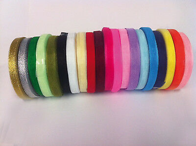 4 metres of Sheer Organza Ribbon - 6 & 10mm width - Many Colours