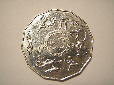 Australian fifty cent 50c coin 2005 MELBOURNE COMMONWEALTH GAMES - circulated