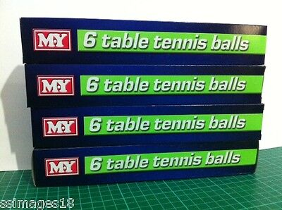 Standard Table Tennis Ping Pong Balls White Set Box Pack Play Toy Cheap Kids New