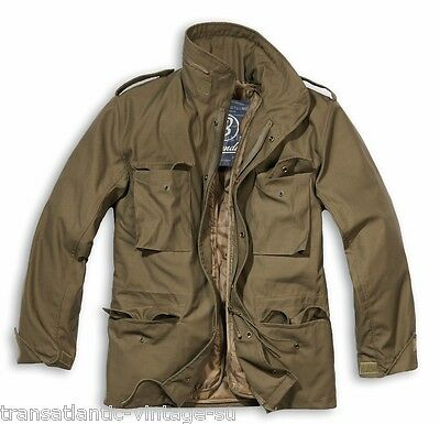 66aa793542f4f Brandit M65 Jacket With Quilted Liner Mens Military Army Combat Field Coat  Olive