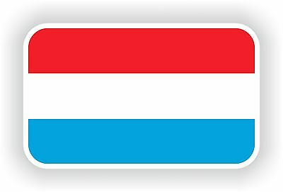 Luxembourg Flag Sticker drapeau Motorcycle Auto stickers Helmet Bumper Truck Car