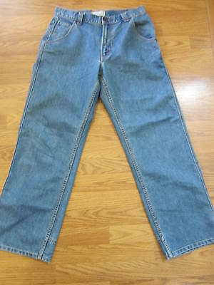 boys size 18 regular BLUE JEANS by LEVI STRAUSS skater loose EUC