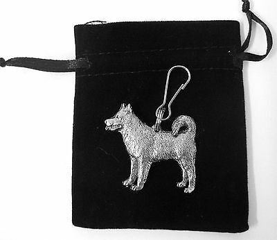 Alaskan Malamute Zip Pull in Silver, for Bags and Jackets