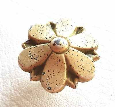 Antique Hardware Shab Chic French Provincial Vintage Flower Drawer Knob
