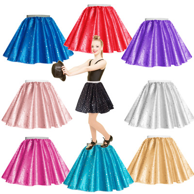 Adults Sequin Satin Dance, Hen party, Disco, 70s Circle Skirt Rock n Roll
