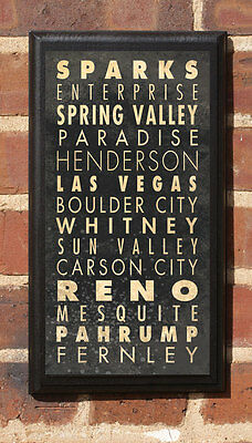 Cities of Nevada NV Vintage Style Wall Plaque / Sign