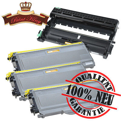3 Toner + Trommel für Brother MFC-7320 / MFC-7340 / MFC-7440 N / TN2120 DR2100