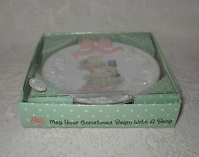 Precious Moments Mini Plate 2001 CHRISTMAS WITH A BANG