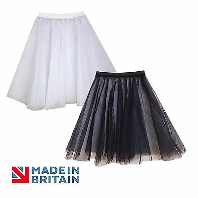Net Underskirt Petticoat Bridesmaid/Prom Dress BLACK and WHITE Adults & Children