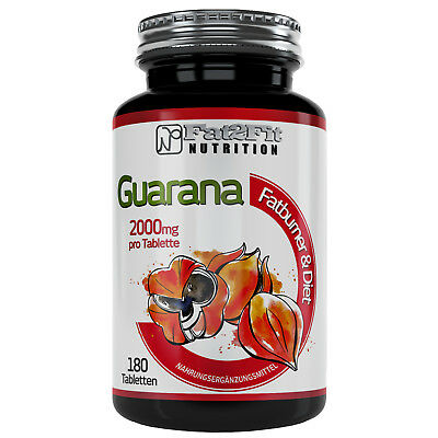 Guarana (8,95€/100g) 180 Tabletten je 2000mg - Die preiswerte Alternative