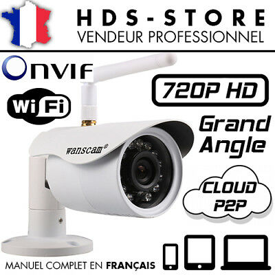 Camera Ip Exterieur Wanscam Jw0001 Wifi Compatible Iphone Android Cloud Qrcode