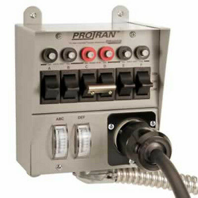 Reliance Controls Transfer Switch 30A 6 Circuits 7500W 30216A