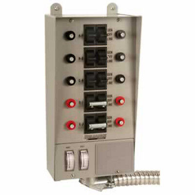 Reliance Controls Transfer Switch 50A 10 Circuit 12500W 51410C