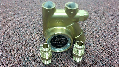 "PROCON, PUMP, BRASS, Clamp On, 125 GPH, 250 PSI, 3/8""NPT MALE  x 3/8"" MALE FLARE"