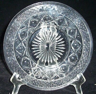 "Imperial Cape Cod Glass Salad Plate S Footed 8"" Crystal"