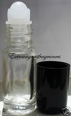 Set of 4 Glass Roll-On 1/8 oz empty fragrance perfume essential oil bottle