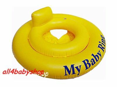 Yellow Round Baby Infant Inflatable Swimming Aid Trainer Seat Ring 0-12M, 0-1y