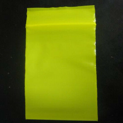 100 YELLOW COLOR  2 x 3 Plastic Ziploc/Ziplock reclosable Jewelry BAGS 2 MIL