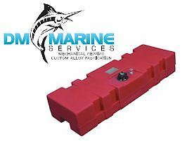 Low Profile Long Marine Fuel Tank 60L with Gauge - Large Capacity