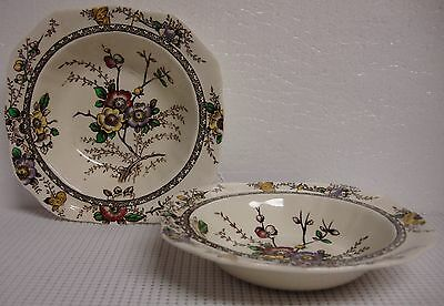 """Meakin, Alfred MEDWAY DECOR 6-3/4"""" Square Cereal Bowl /s DARK BROWN/MULTICOLOR"""