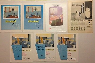Lot Publicites Annees 50-60 Special Ideal Standard