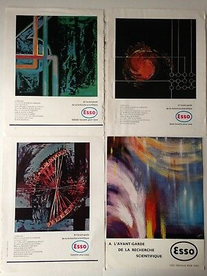 Lot Publicites Annees 50 Special Esso // Illustrations Art - 1 Ruster
