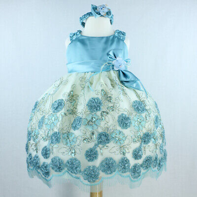 Flower Girl Dresses Embossed Toddler Wedding Pageant Party Ballerina Bridesmaid