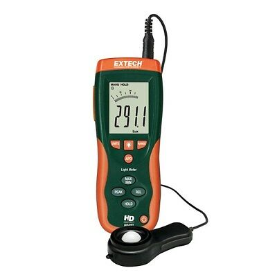 Extech Heavy Duty Light Meter HD400 large backlit display 40-segment bar graph