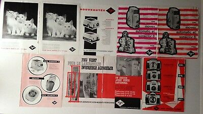 Lot Publicites Annees 60 Special Agfa