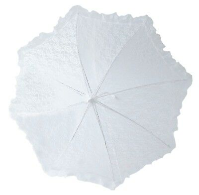 "24"" Lace baby or bridal shower umbrella white parasol"