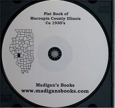 Macoupin Co Illinois IL plat genealogy Carlinville land owners history
