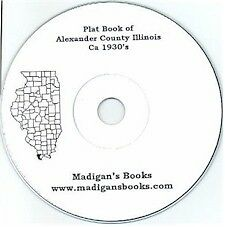 Alexander Co Illinois Cairo IL plat genealogy land owners history
