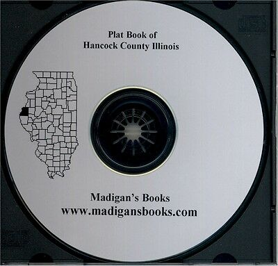 Hancock Co Illinois IL plat genealogy Carthage history land owners CD
