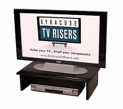 "X-LARGE BLACK TV RISER-Solid/Safe 30""wide x 17""deepx8""high by Syracuse TV Risers"