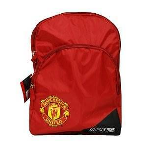 New Official Manchester United Tri Red Backpack